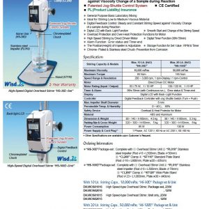DaiHan HS-30D-Set High-Speed Digital Overhead Stirrer Package-set (3000rpm 10L)